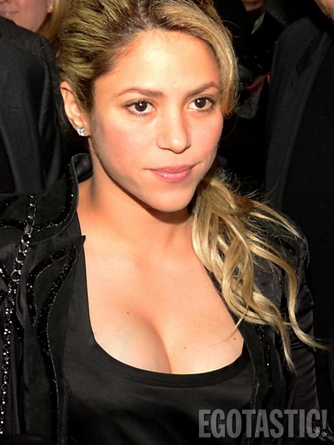 Shakira in Black Dress