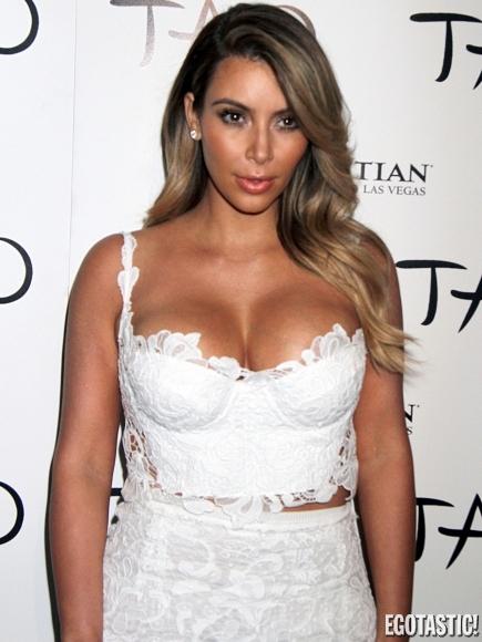 Kim Kardashian in White Lace